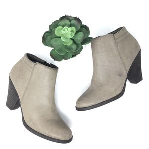 Mia Luce Vegan Leather Ankle Boots